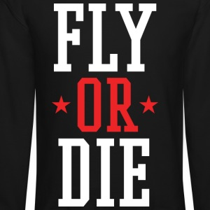 FLY OR DIE Mens Crewneck SweatShirt by AiReal  - Crewneck Sweatshirt