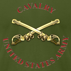Cavalry Branch Insignia - Men's T-Shirt by American Apparel