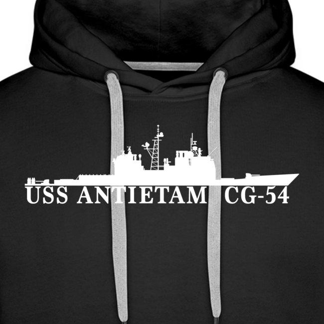 USS ANTIETAM CG-54 WATERLINE HOODIE