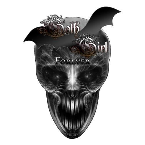 Goth Girl Forever Skull
