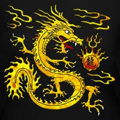 Golden Dragon Long Sleeve Shirts