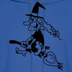 Witch on a broom Hoodies