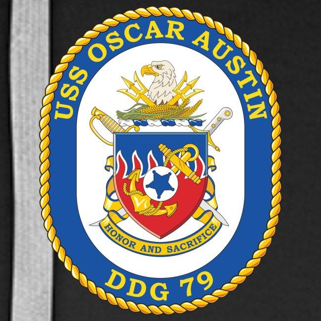 USS OSCAR AUSTIN DDG-79 Crest Hoodie