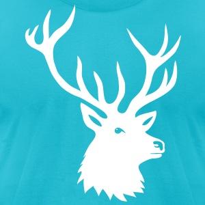 stag night bachelor deer moose elk antler antlers T-Shirts - Men's T-Shirt by American Apparel