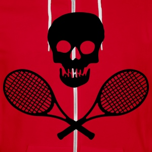 Skull Tennis Racquets - Unisex Fleece Zip Hoodie by American Apparel