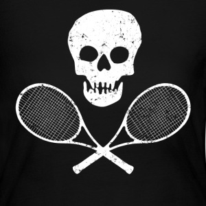 Skull Tennis Racquets - Women's Long Sleeve Jersey T-Shirt