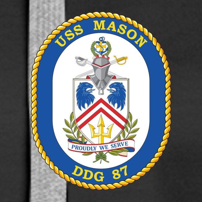 USS MASON DDG-87 Crest Hoodie - Women's