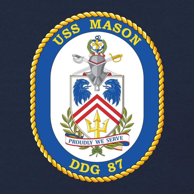 USS MASON DDG-87 Crest Sweatshirt