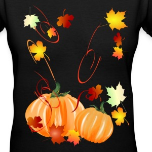 Wonderful Fall-Colorful Fall - Women's V-Neck T-Shirt