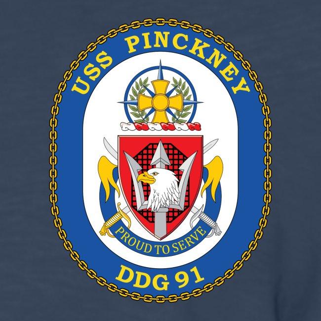 USS PINCKNEY DDG-91 Crest Long Sleeve