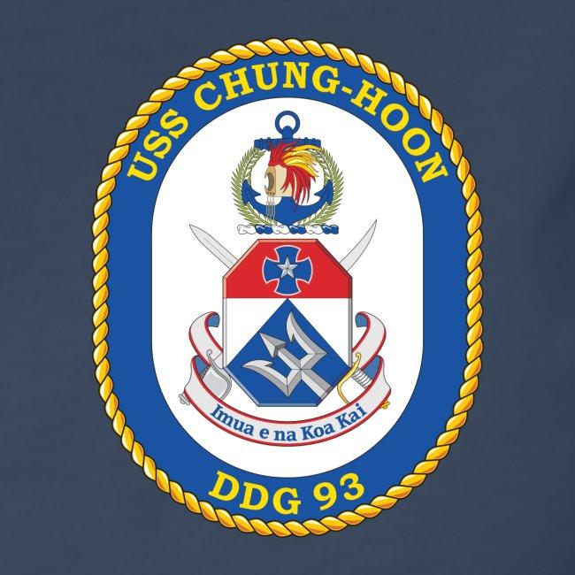 USS CHUNG-HOON DDG-93 Crest Long Sleeve - Women's