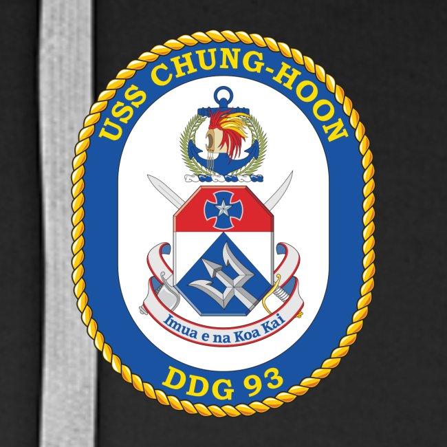 USS CHUNG-HOON DDG-93 Crest Hoodie