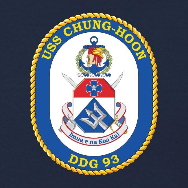 USS CHUNG-HOON DDG-93 Crest Sweatshirt