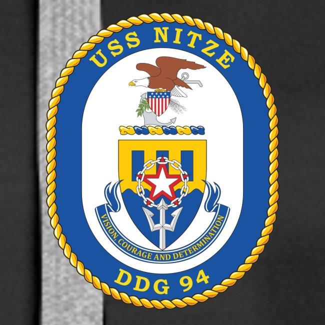 USS NITZE DDG-94 Crest Hoodie - Women's