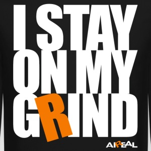 I Stay On My Grind Mens Crewneck by AiReal - Crewneck Sweatshirt