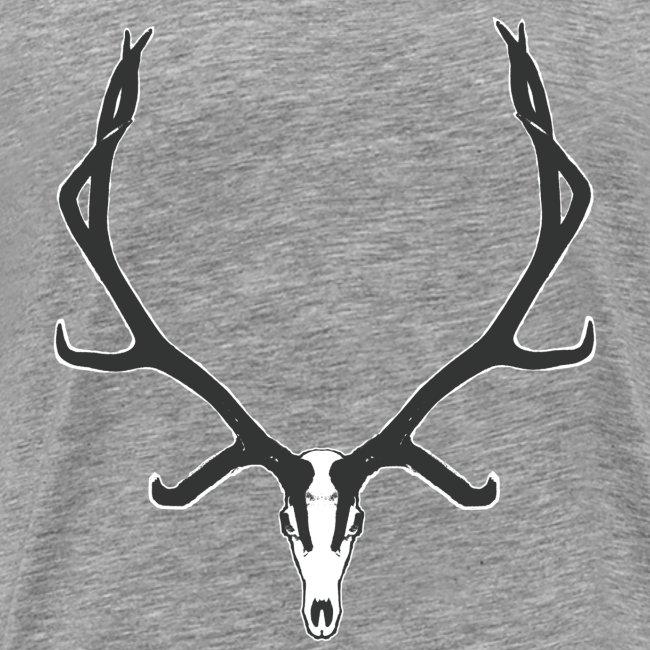 Bull elk skull European mount,