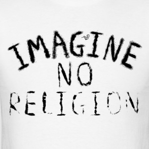 Imagine NO Religion (Faded Art) - Men's T-Shirt