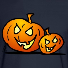 Two Halloween pumkins Long Sleeve Shirts
