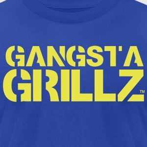 GANGSTA GRILLZ T-Shirts - Men's T-Shirt by American Apparel