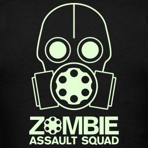 Double Sided Glow in the Dark Zombie Assault Squad - Men's T-Shirt