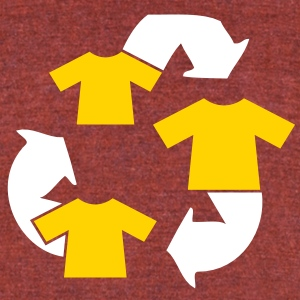 SHIRT recycling symbol funny shirt humour design T-Shirts - Unisex Tri-Blend T-Shirt by American Apparel