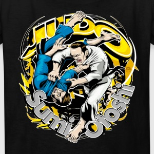 Judo Throw Design Black Kids Sumi Otoshi - Kids' T-Shirt