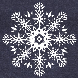 Snowflake Ornament Design Long Sleeve Shirts - Women's Wideneck Sweatshirt