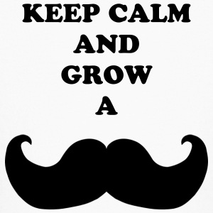 Keep calm and grow a mustache - Kids' Long Sleeve T-Shirt