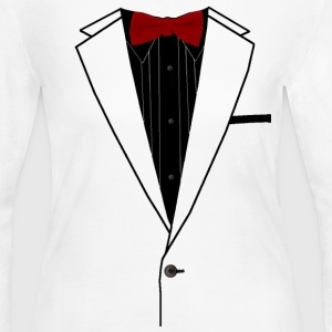 Tuxedo Red Bowtie - Women's Long Sleeve Jersey T-Shirt