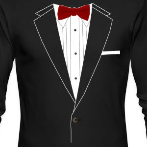 Tuxedo Red Bowtie - Men's Long Sleeve T-Shirt by Next Level