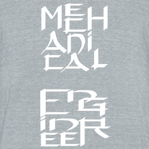 Mechanical Engineer Character T-Shirts - Unisex Tri-Blend T-Shirt by American Apparel