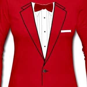 Tuxedo Red Bowtie Long Sleeve Shirts - Women's Long Sleeve Jersey T-Shirt