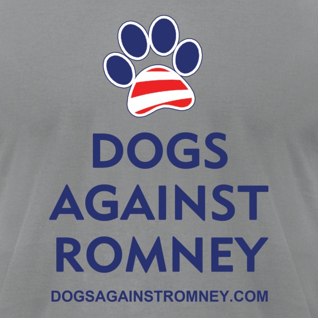 "Official Dogs Against Romney ""Paw"" Men's Jersey T-Shirt"
