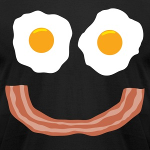 Eggs Bacon Smiley - Men's T-Shirt by American Apparel