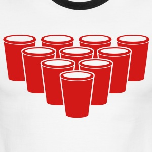Beer Pong Cups - stayflyclothing.com T-Shirts - Men's Ringer T-Shirt