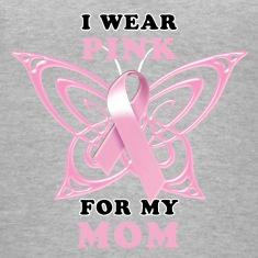 I Wear Pink for my Mom (Butterfly) Women's T-Shirts