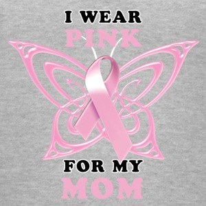 I Wear Pink for my Mom (Butterfly) Women's T-Shirts - Women's V-Neck T-Shirt