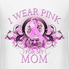 I Wear Pink for my Mom (Floral) T-Shirts