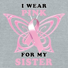 I Wear Pink for my Sister (Butterfly) T-Shirts