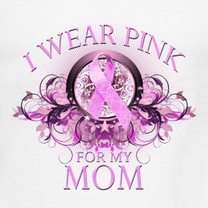 I Wear Pink for my Mom (Floral) T-Shirts - Men's Ringer T-Shirt