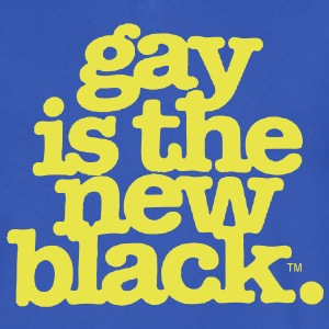 GAY IS THE NEW BLACK T-Shirts - Men's V-Neck T-Shirt by Canvas