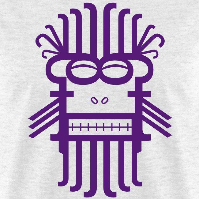 Letter Monster (Purple) Men's Standard Weight T-Shirt