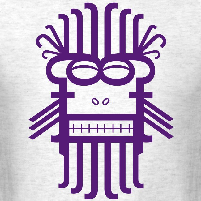 Letter Monster (Purple) Men's Standard Weight T-Shirt