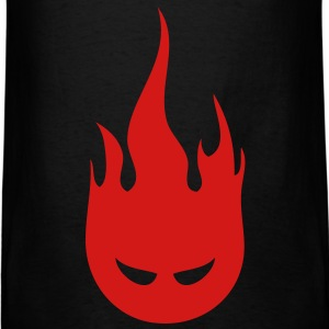 Fire Crotch Black Men's Standard Weight T-Shirt - Men's T-Shirt