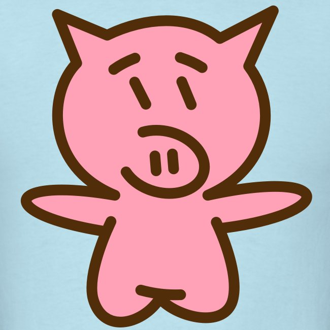 Pig Hug (Brown/Pink) Men's Standard Weight T-Shirt