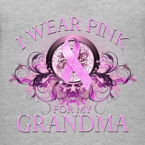I Wear Pink for my Grandma (Floral) Women's T-Shirts - Women's V-Neck T-Shirt