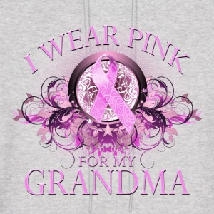 I Wear Pink for my Grandma (Floral) Hoodies - Men's Hoodie