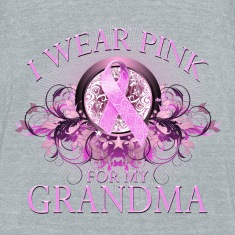 I Wear Pink for my Grandma (Floral) T-Shirts
