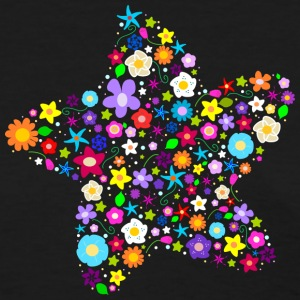 Colorful Star of Spring Flowers - Women's T-Shirt