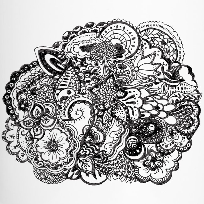 Black And White Pen Ink Doodle